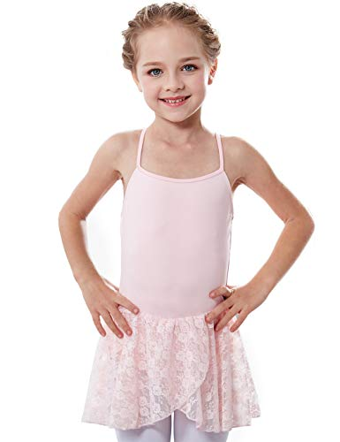 Girls' Camisole Sleeve Lace Leotard Dress (2-4 / Toddler, Ballet Pink)