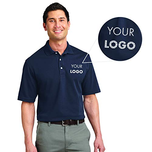 Custom Embroidered Queensboro Lift Luxury Hybrid Jersey Polo Navy