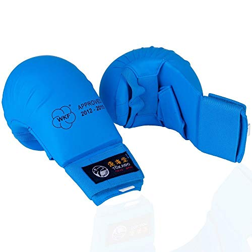 Wkf Karate Mitt - Tokaido WKF Karate Mitt with Thumb Blue (Medium)