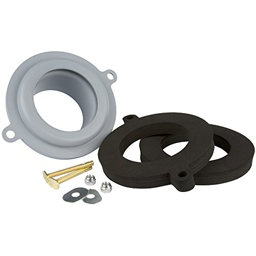 Wax Free Toilet Seal - Plumbcraft 7140300 Seal Tight Waxless Gasket Kit-Universal FIT Any Toilet
