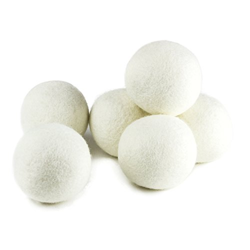 Large Product Image of Wool Dryer Balls by ZG-Home 6-Pack, XL Size Premium Reusable Natural Fabric Softener