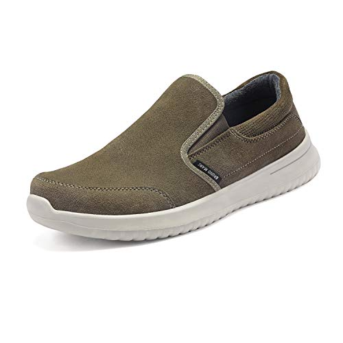 - Bruno Marc Men's Slip on Walking Shoes Suede Sneakers Walk-Soft-01 Khaki Size 10.5 M US