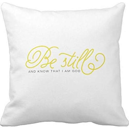 Be Still And Know | yellow bible verse pillow case 24*24