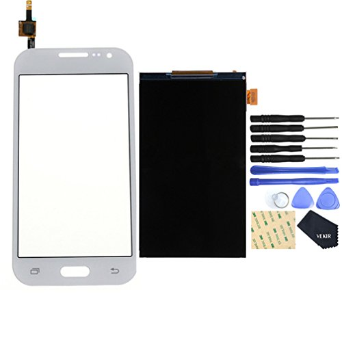 VEKIR LCD Display Screen + Touch Digitizer Replacement Set for Samsung Galaxy Core Prime VE LTE(white)