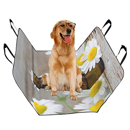- MOVTBA Fashion Oxford Pet Car Seat German City Free Travel Romantic Color Waterproof Nonslip Canine Pet Dog Bed Hammock Convertible for Cars Trucks SUV