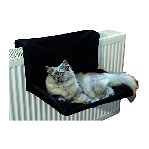 AIME Hamac / Lit radiateur pour Chat DARK, Perchoir à chat noir Doux et Confortable, Capacité 6kg 822356