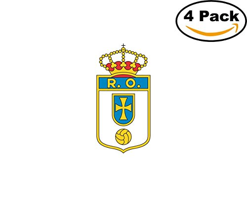 fan products of Real Oviedo CF Spain Football Club Soccer FC 4 Sticker Decal 4X4