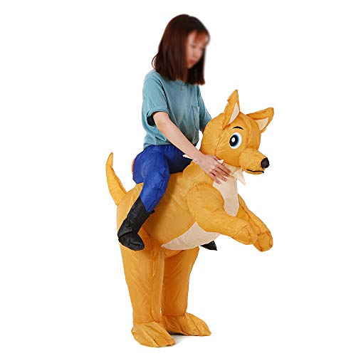 Decdeal Puppy Dog Inflatable Costume Props Fancy Dress for Halloween Christmas Show Cosplay Party Stage Performance Jumpsuit for Kids Children -