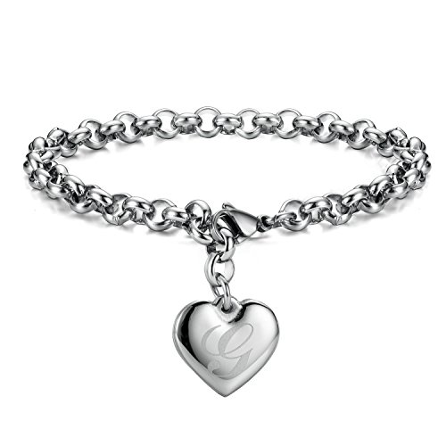 Fashion Jewelry Jewelry & Watches Sensible Fashion Women Lady Silver Plated Crystal Bangle Love Heart Charm Bracelet Gl Available In Various Designs And Specifications For Your Selection