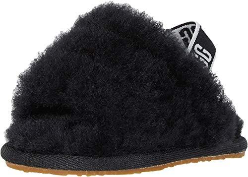 UGG Baby I Fluff Yeah Slide Flat Sandal, Black 04/05 M US Infant
