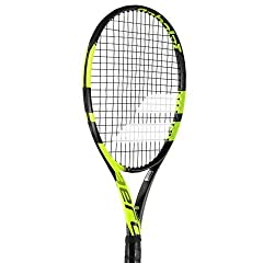 The Babolat Pure Aero Plus is the latest racquet in the Pure Aero Racquet family. This frame offers a great new matte black and fluorescent yellow cosmetic. An emphasis on spin friendly design remains a carryover from the design of the Aeropr...