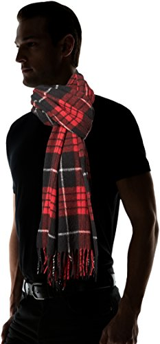Scotch-Soda-Mens-Classic-Scarf-In-Brushed-Quality-with-Check-Pattern