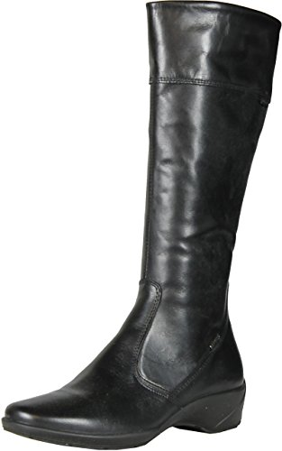 Imac Womens 52368 Fashion Leather Boots Made In Italy Black.
