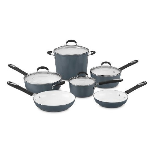 Cuisinart 59-10SB Elements Non-Stick 10 Piece Set, N/A, Slate Blue