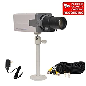 """VideoSecu 700TVL Box Security Camera Built-in 1/3"""" SONY Effio CCD Home CCTV High Resolution with Power Supply, 6-60mm Vari-focal Zoom Lens, Metal Bracket and Cable SC70 CSU"""
