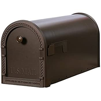 Gibraltar Mailboxes Designer Large Capacity Galvanized Steel Venetian Bronze, Post-Mount Mailbox, DM160V01