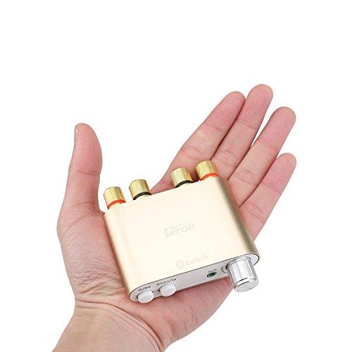 DROK® Mini amplificateur sans fil stéréo audio avec Bluetooth 4.0, carte d'amplificateur de puissance de signal numérique 50W * 2 Amplificateurs à deux canaux, module d'AMP électrique Co durable modeling