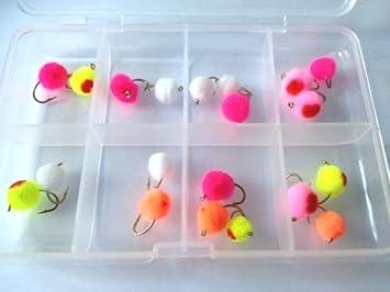 Pesca con mosca huevo moscas Megapack gratis caja PARA MOSCAS para trucha Pike veinte unidades: Amazon.es: Deportes y aire libre