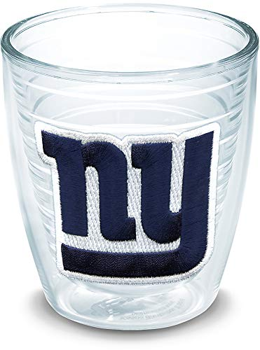 Tervis 1022785 NFL New York Giants Primary Logo Tumbler with Emblem 12oz, Clear