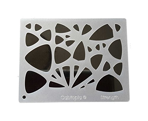 Cabtopia -- Lapidary Jewelry Design Template Stencil ''Strength'' by Cabtopia
