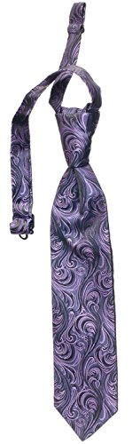 Toddler Boys Imperial Paisley Pre Tied Neck - Dress Ties, Several Colors (Plum)