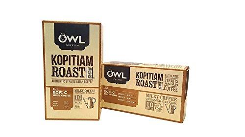 OWL Kopitiam Roast KOPI-C Milky Coffee, 14.10oz(400g), 20 Sticks