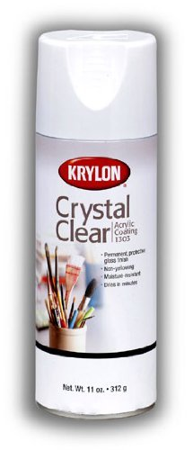 Krylon 11 Oz. Crystal Clear Aerosol Spray For Arts And Crafts Provides a Moisture Resistant and Smudge Proof Permanent Coating (Pkg/3) by Krylon