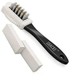 Shacke's Suede & Nubuck Brush Cleaner with 2 Erasers The Shacke suede and nubuck leather brush cleaner was made to find the perfect balance to fiercely clean your suede/nubuck material while being gentle at the same time so it does not da...