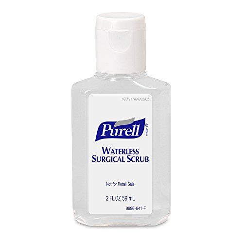 PURELL Waterless Surgical Scrub Gel, Fragrance Free, 2 fl oz Portable, Travel Sized Advanced Surgical Scrub Formulation Flip Cap Bottles (Case of 24) - 9686-24 ()