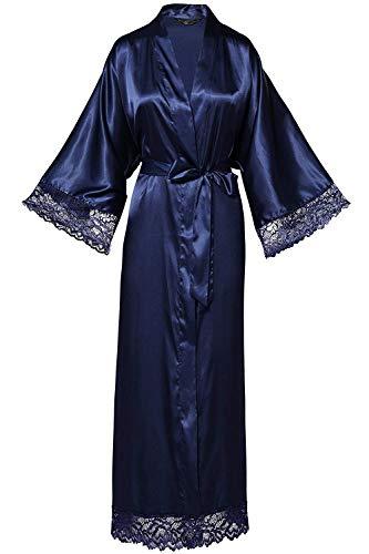 Azul Marino Mujer Shinegown Albornoz Para qOvwzw7