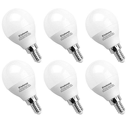 E12 LED Globe Light Bulb 50Watts Incandescent Bulb Equivalent, Kakanuo G14 LED Candelabra Bulb Warm White 2700K 500Lumens Non Dimmable for Ceiling Fan(6 Pack)