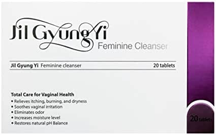 JilGyungYi Natural Vaginal Suppositories 20EA - Feminine Intimate Health Total Solution - Moisturizing, Tightening, Odor Treatment, Brightening, Dryness & Itching Relief
