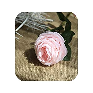 10PCS Real Touch Rose Artificial Flowers Rose Flower Wedding Bouquet Party Flowers Bridesmaid Home Decorative Fake Flower,4 82