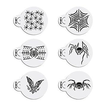 Xuexin 6pcs Halloween Stencils Template For Cookie Stencil Set