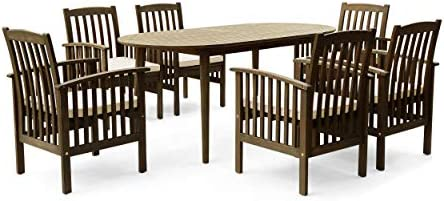 Great Deal Furniture Spring Acacia Patio Dining Set