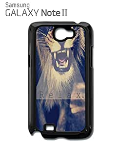 Relax Triangle Lion Leopard Tiger Animal Funny Hipster Swag Mobile Phone Case Back Cover Funda Negro Blanc Para for Samsung Note 2 White
