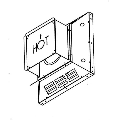 (Comfort Flame HTS-58 Fireplace Direct-Vent Horizontal Square Termination, Galvanized )