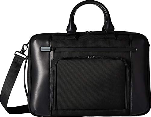 Zero Halliburton Black Briefcase (Zero Halliburton PRF 3.0-Small Three-Way Briefcase, Black, One Size)