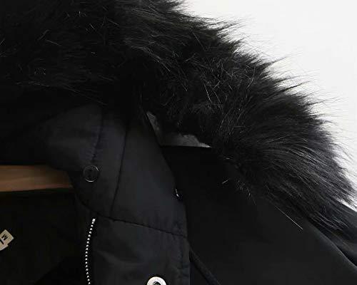 Cappotto Giacca Pelliccia Antivento Cappuccio Forti Nero Parka Invernale Taglie Imbottito Spessa Cotone Giacche Con Lungo Manica Donna Mambain Caldo Eleganti Giubbotto Cappotti HqxUSxv