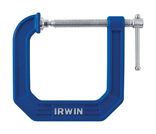 IRWIN Tools QUICK-GRIP 100 Series Deep Throat C-Clamp, 3-inch by 4 1/2-inch Throat (225134) ()