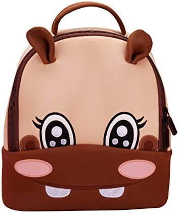 Childrens backpack fashion cartoon backpack cute hippo bag