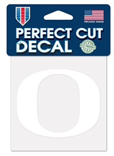 WinCraft NCAA Oregon Ducks 4x4 Perfect Cut White Decal, One Size, Team Color -
