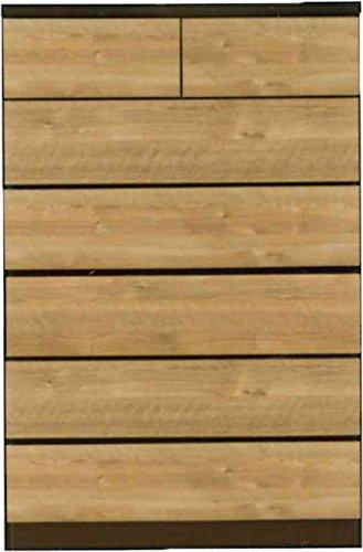 ハイチェスト 洋タンス おしゃれ 幅90cm 高さ135cm 木製 シンプル/ナチュラル(NA) B078G8F1LQ ナチュラル(NA) ナチュラル(NA)