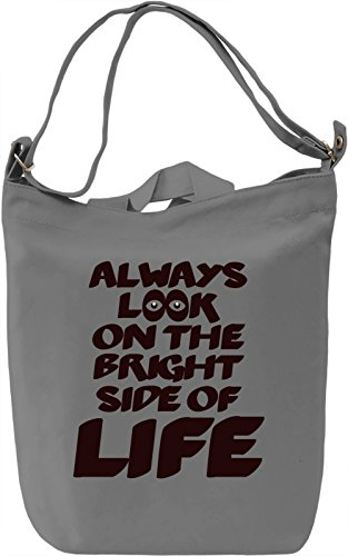 Bright side Borsa Giornaliera Canvas Canvas Day Bag| 100% Premium Cotton Canvas| DTG Printing|