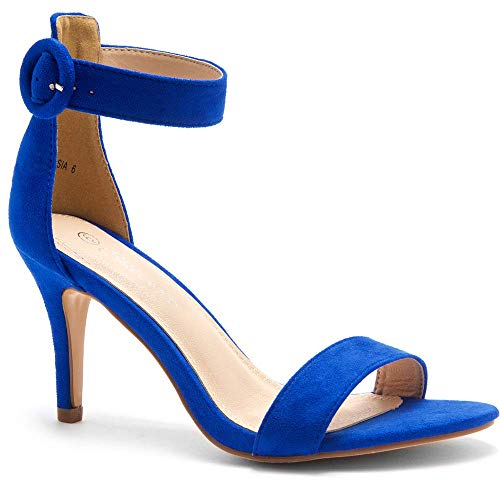 - Herstyle Ambrosia Women's Open Toe High Heels Dress Wedding Party Elegant Heeled Sandals Royal Blue 10.0
