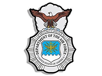 MAGNET Air Force Security Police Logo Shaped Magnet(badge insignia) Size: 4 x 4 inch ()