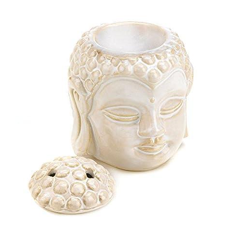 Ceramic Buddha Head Serenity Tealight Candle Oil Warmer NEW Zen Feng Shui Decor,ceramic buddha bowls cat cup