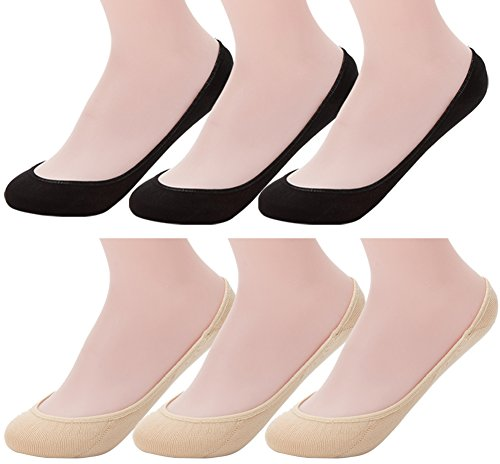 - Ndoobiy 6 Pairs Women's No Show Socks Nonslip Invisible Socks Low Cut Liner Summer Socks for Flats High Heels Assort