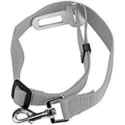cola-site Pet Cat Dog Safety Vehicle Car Seat Belt Harness,Gray,XL