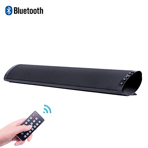 Bluetooth TV Speakers, 21 Inch Wired & Wireless Bluetooth Soundbar Bluetooth V5.0 Home Cinema Speaker Audio Surround Sound Bar Built-in Subwoofer for TV PC Tablets Computer